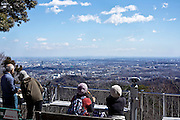 view from Meiji no Mori Takao Quasi-National Park with Tokyo in the distance Japan  Tokyo Hachioji ward