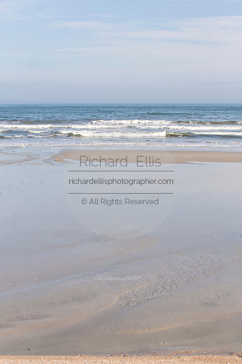 Empty beach on Amelia Island Florida