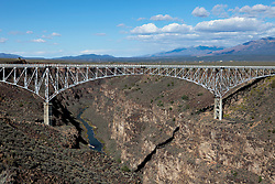 The Rio Grande Gorge Bridge in Taos, New Mexico
