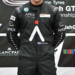 Glynn Geddie on the top step of the podium after bringing home his United Autosport McLaren MP4-12c in first place while competing in the the Supercar Challenge GT + Supercar event at Circuit Park Zandvoort on the 7th September 2013<br /> WAYNE NEAL | SPORTPIX.ORG.UK