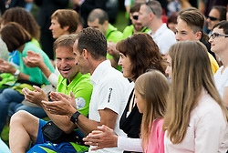 Roman Kejzar and Sandi Novak at Opening of photo exhibition of Slovenian Paralympic Athletes before Rio 2016, on July 14, 2016 in Arboretum Volcji potok, Slovenia. Photo by Vid Ponikvar / Sportida