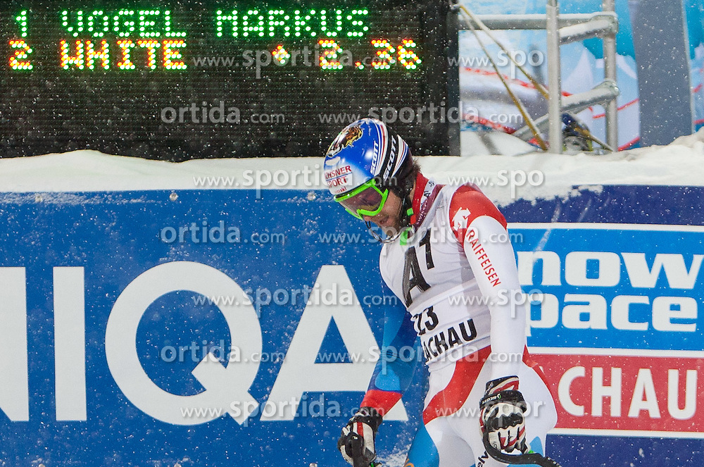 21.12.2011, Hermann Maier Weltcup Strecke, Flachau, AUT, FIS Weltcup Ski Alpin, Herren, Slalom, im Bild Markus Vogel (SUI) nach seinem 2. Durchgang // Markus Vogel of Suisse after his 2nd run of Slalom race at FIS Ski Alpine World Cup 'Hermann Maier World Cup' course in Flachau, Austria on 2011/12/21. EXPA Pictures © 2011, PhotoCredit: EXPA/ Johann Groder