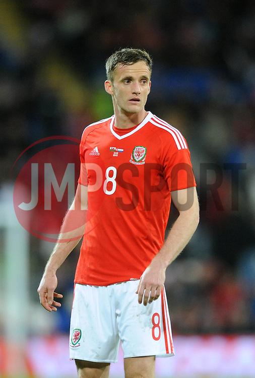 Andy King of Wales - Mandatory byline: Dougie Allward/JMP - 07966 386802 - 13/11/2015 - FOOTBALL - Cardiff City Stadium - Cardiff, Wales - Wales v Netherlands - International Friendly