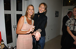Left to right, INDIA HICKS and SAFFRON ALDRIDGE at a party to celebrate the launch of India Hick's 'Island Living' range of frangrance and beauty products in association with Crabtree & Evelyn held at The Hempel, Craven Hill Gardens, London on 22nd November 2006.<br /><br />NON EXCLUSIVE - WORLD RIGHTS