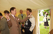 Nick Foulkes and Lord March, Cartier Style Et Luxe, Goodwood, 27 June 2004. SUPPLIED FOR ONE-TIME USE ONLY-DO NOT ARCHIVE. © Copyright Photograph by Dafydd Jones 66 Stockwell Park Rd. London SW9 0DA Tel 020 7733 0108 www.dafjones.com