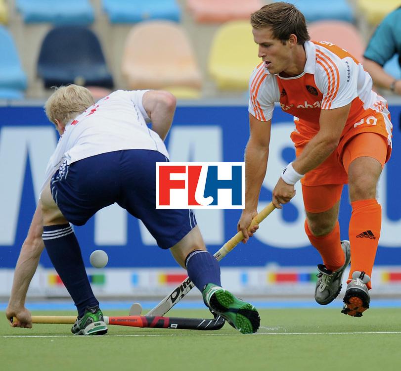 Monchengladbach - Champions Trophy men<br /> England vs Netherlands<br /> foto: alastair Wilson (white) and Jeroen Hetzberger (orange)<br /> FFU Press Agency  COPYRIGHT Frank Uijlenbroek