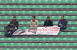 Fans of Ilicic and Bacinovic during football match between Udinese Calcio and Palermo in 8th Round of Italian Seria A league, on October 24, 2010 at Stadium Friuli, Udine, Italy.  Udinese defeated Palermo 2 - 1. (Photo By Vid Ponikvar / Sportida.com)
