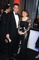 BERNARD JENKIN MP and his wife ANNE at the Conservative Party's Black & White Ball held at Old Billingsgate, 16 Lower Thames Street, London EC3 on 8th February 2006.<br />