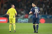 Zlatan Ibrahimovic / Fredy Fautrel - 08.04.2015 - Paris Saint Germain / Saint Etienne - 1/2Finale Coupe de France<br />Photo : Andre Ferreira / Icon Sport