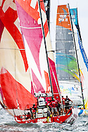 Camper and Sanya at the start of the in-port race during the 2011-2012 Volvo Ocean Race stopover in Miami.