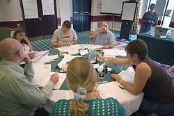 A group of youth justice staff involved in training,