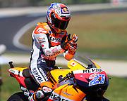 World Moto GP Championship.<br /> Round16.Phillip Island.Australia.Friday14.10.2011<br /> #27 Casey STONER (AUS) Repsol Honda Team<br /> © ATP Photo/ Damir IVKA<br /> <br />  - Motorrad-WM - MotoGP in Australien - Motorrad - Motorradsport - Grand Prix in Phillip Island - Motorcycle racing -<br /> - fee liable image - Photo Credit: © ATP / Damir IVKA
