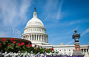 USa, Washington, DC. The U.S. Capitol Building as seen from the plaza outside the Capitol Visitors Center.