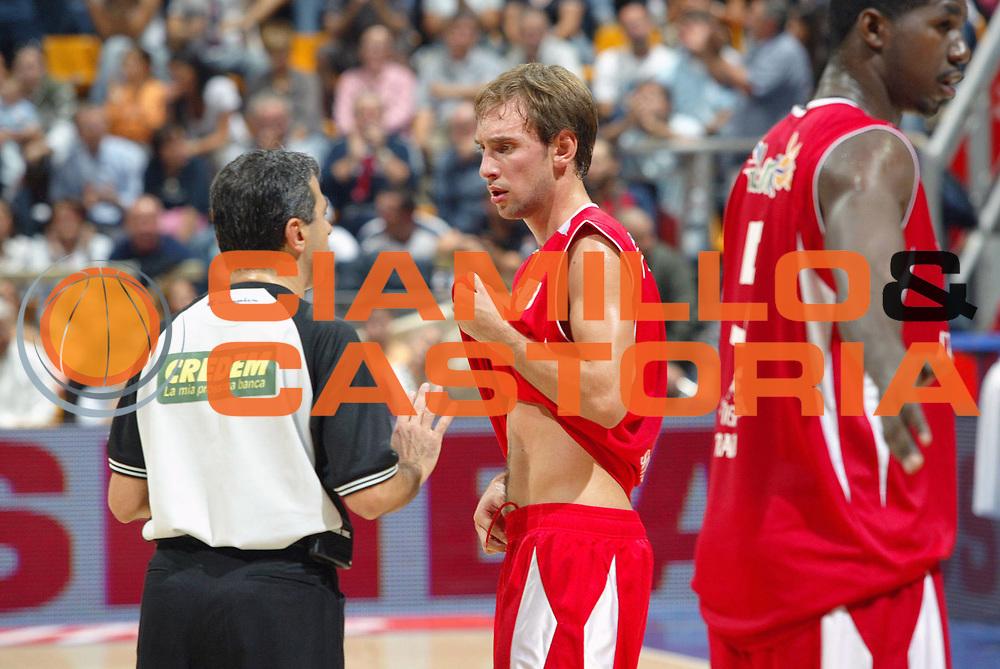 DESCRIZIONE : Bologna Lega A1 2007-08 Upim Fortitudo Bologna Siviglia Wear Teramo<br /> GIOCATORE : Giuseppe Poeta Arbitro<br /> SQUADRA : Siviglia Wear Teramo<br /> EVENTO : Campionato Lega A1 2007-2008 <br /> GARA : Upim Fortitudo Bologna Sivilglia Wear Teramo<br /> DATA : 30/09/2007 <br /> CATEGORIA : Curiosita<br /> SPORT : Pallacanestro <br /> AUTORE : Agenzia Ciamillo-Castoria/G.Livaldi