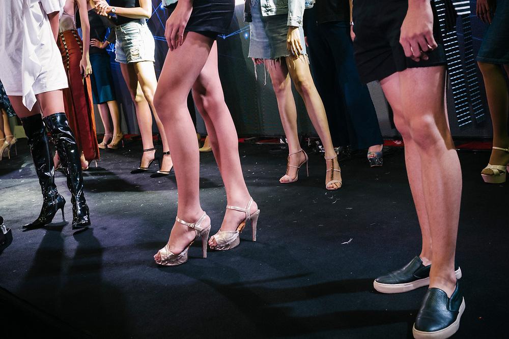 Bangkok January 26, 2018 -    Transgenders are repeating for the show during the Thailandís first LGBT-themed expoBangkok, le 26 janvier 2018 - Les transgenres se répètent pour le spectacle lors de la première exposition sur le thème LGBT en Thaïlande.