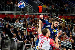 Nikola Karabatic (FRA) during handball match between National teams of France and Denmark in Bronze medal match of Men's EHF EURO 2018, on January 28, 2018 in Arena Zagreb, Zagreb, Croatia . Photo by Ziga Zupan / Sportida