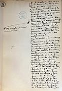Handwritten notes for a speech supporting a bill offering amnesty to the communards (participants in the Paris Commune), 1876, page 5, by Victor Hugo, 1802-85, French writer, housed in the Archives du Senat, in the Senate in the Palais du Luxembourg, 6th arrondissement, Paris, France. Hugo was a senator for Seine 1876-85, and gave this speech on 22nd May 1876. Although this bill was not passed, a general amnesty was granted in 1880. Picture by Manuel Cohen