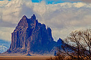 Shiprock Peak, 7,177 ft, sacred peak, Navajo Nation, New Mexico