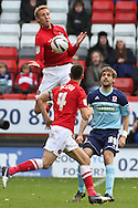 Picture by David Horn/Focus Images Ltd +44 7545 970036.03/11/2012.Rob Hulse and Johnnie Jackson of Charlton Athletic and Jonathan Woodgate of Middlesbrough during the npower Championship match at The Valley, London.