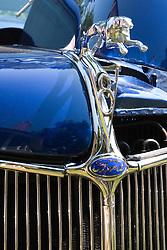 7 August 2010: 1936 Food Coupe, custom hot rod. Antique Car show, David Davis Mansion, Bloomington Illinois