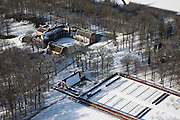 Nederland, Utrecht, Gemeente Baarn, 31-01-2010; Kasteel Groeneveld in de sneeuw;.maakt deel uit van het ministerie van Landbouw, Natuur en Voedselkwaliteit (LNV)..Groeneveld Castle in the snow, part of the Ministry of Agriculture, Nature and Food Quality (LNV).luchtfoto (toeslag), aerial photo (additional fee required).foto/photo Siebe Swart