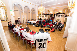 09.01.2018, Haus des Sports, Wien, AUT, EHF Euro 2018, Herren, Pressekonferenz Österreich, im Bild der Presseraum // during an Austrian Press Conference in front of the EHF 2018 European Men' s Handball Championship in Croatia at the Haus des Sports, Vienna, Austria on 2018/01/09. EXPA Pictures © 2018, PhotoCredit: EXPA/ Sebastian Pucher
