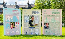 Pictured: International Book Festival Launch. Charlotte Square Gardens, Edinburgh, Scotland, United Kingdom, 06 June 2019. Janet Smyth, Children & Education Programme, Nick Barley, Director of Edinburgh International Book Festival & Roland Gulliver, Associate Director launch the 2019 Book Festival programme.<br /> <br /> Sally Anderson   EdinburghElitemedia.co.uk