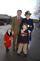 CHARLES LEVENSON and his wife designer SELINA BLOW and their children VIOLET and GUS at the 50th running of the Hennessy Gold Cup at Newbury Racecourse, Berkshire on 25th November 2006.<br /><br />NON EXCLUSIVE - WORLD RIGHTS