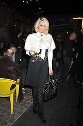 LEANNE BELLMAN at the Prada Congo Art Party hosted by Miuccia Prada and Larry Gagosian at The Double Club, 7 Torrens Street, London EC1 on 10th February 2009.