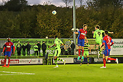 Forest Green Rovers Christian Doidge(9) heads the ball scores a goal 2-1 during the Vanarama National League match between Forest Green Rovers and Aldershot Town at the New Lawn, Forest Green, United Kingdom on 5 November 2016. Photo by Shane Healey.