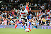 Fulham striker, Sone Aluko about to score during the Pre-Season Friendly match between Fulham and Crystal Palace at Craven Cottage, London, England on 30 July 2016. Photo by Matthew Redman.