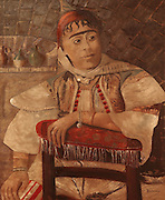 Portrait of a Jew in Turkey, from the collection of the Crespo Lopez family exhibited in the 16th century Palacio de los Olvidados or Palace of the Forgotten, in El Albayzin, the medieval Moorish old town of Granada, Andalusia, Southern Spain. The Palace is one of the few remaining old aristocratic houses in good condition, thought to belong to a Jew and now housing artefacts of Jewish culture and history. During the Spanish Inquisition, many Spanish Jews fled to Turkey, where Jews were welcomed. Granada was listed as a UNESCO World Heritage Site in 1984. Picture by Manuel Cohen