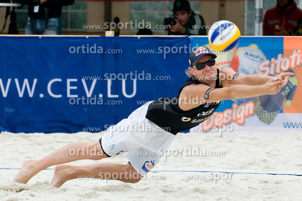 Julius Brink of Germany at CEV European Continental Beach Volleyball Cup for Olympic Qualification, on September 4, 2010, in Zrece, Slovenia. (Photo by Matic Klansek Velej / Sportida)