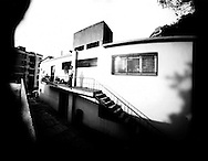 """Images made on  11"""" x 14"""" B&W paper negatives taken with pinhole camera.."""