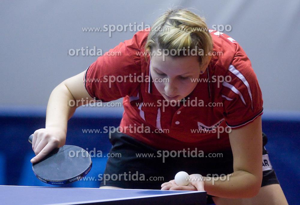 Manca Fajmut of Slovenia at 10th Slovenian Open Table Tennis Championships - Pro Tour Velenje Slovenian Open tournament, in Round 1, on January 15, 2009, in Red sports hall, Velenje, Slovenia. (Photo by Vid Ponikvar / Sportida)