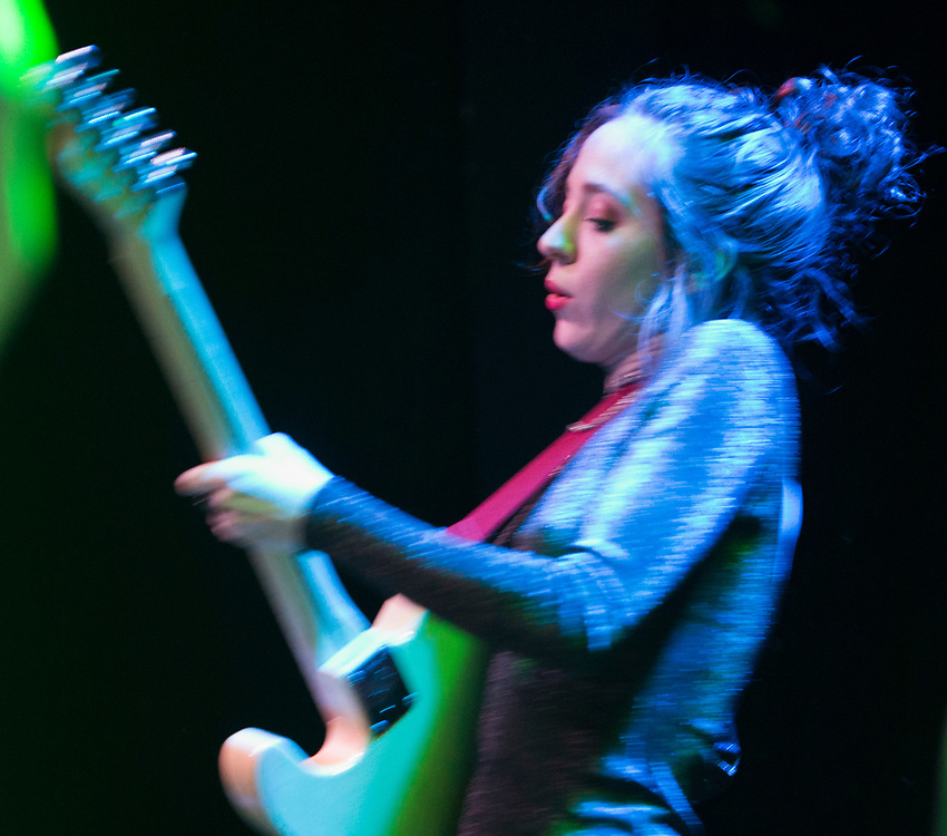 The Regrettes' Genessa Gariano performing at The Constellation Room in Santa Ana, CA, April 19, 2017.