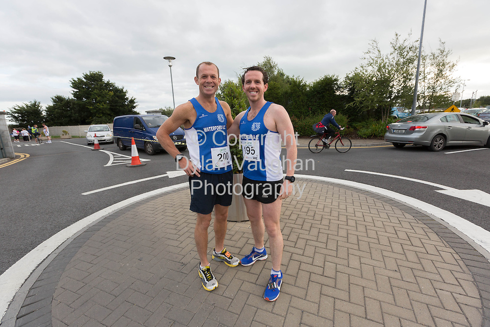 No Repro Fee<br /> <br /> <br /> 301/8/2013<br /> Frank Quinlan and John Nolan pictured at the third annual Genzyme for MS Five Mile Road Race in Waterford on Friday (Aug 30). All proceeds from the race are going to the Waterford branch of the Multiple Sclerosis Society of Ireland. <br /> <br /> Picture Dylan Vaughan.
