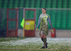 CESENA, ITALY - Tuesday, January 22, 2019: Wales' goalkeeper Laura O'Sullivan during the International Friendly between Italy and Wales at the Stadio Dino Manuzzi. (Pic by David Rawcliffe/Propaganda)