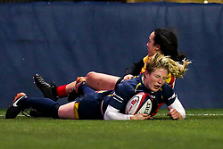 Lydia Thompson of Worcester Warriors Women scores a try - Mandatory by-line: Robbie Stephenson/JMP - 11/01/2020 - RUGBY - Sixways Stadium - Worcester, England - Worcester Warriors Women v Richmond Women - Tyrrells Premier 15s
