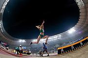Petra Farkas (Hungary), Long Jump Women Qualification - Group B, during the 2019 IAAF World Athletics Championships at Khalifa International Stadium, Doha, Qatar on 5 October 2019.