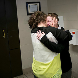 Sarah Pearce hugs her mom Anita Brown after being released from Canyon County Jail in Caldwell, Idaho. Pearce was released after serving 11 years 215 days for six felony guilty verdicts relating to a vicious attack on passing motorist Linda LeBrane in Canyon County in June 2000. 3rd District Judge Juneal Kerrick, who in January 2004 sentenced Pearce to 15 years to life, on Friday amended her sentence to time served, plus five more years of supervised release. An additional three years of prison time could be imposed if she violates her probation. Without the amended sentence, the earliest Pearce could have gained parole would have been August 2017. Friday March 14, 2014