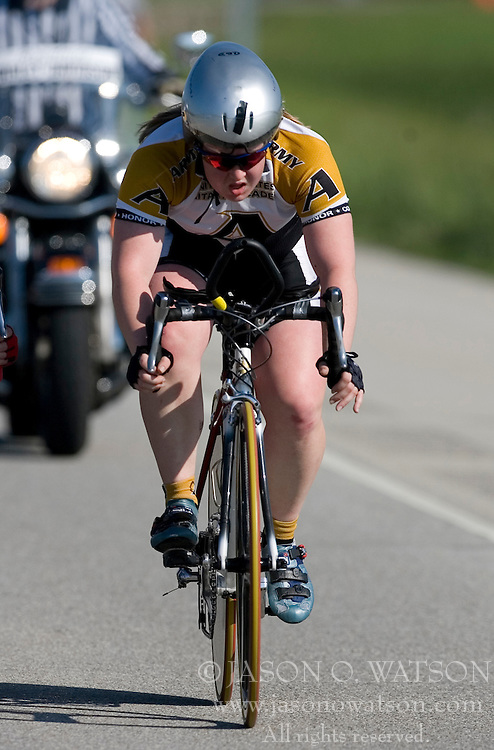 United States Military Academy competes in the Women's Division II team time trial.<br />