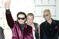 U2 at The BRIT Awards 1993 <br /> Tuesday 16 Feb 1993.<br /> Alexandra Palace, London, England<br /> Photo: John Marshall - JM Enternational