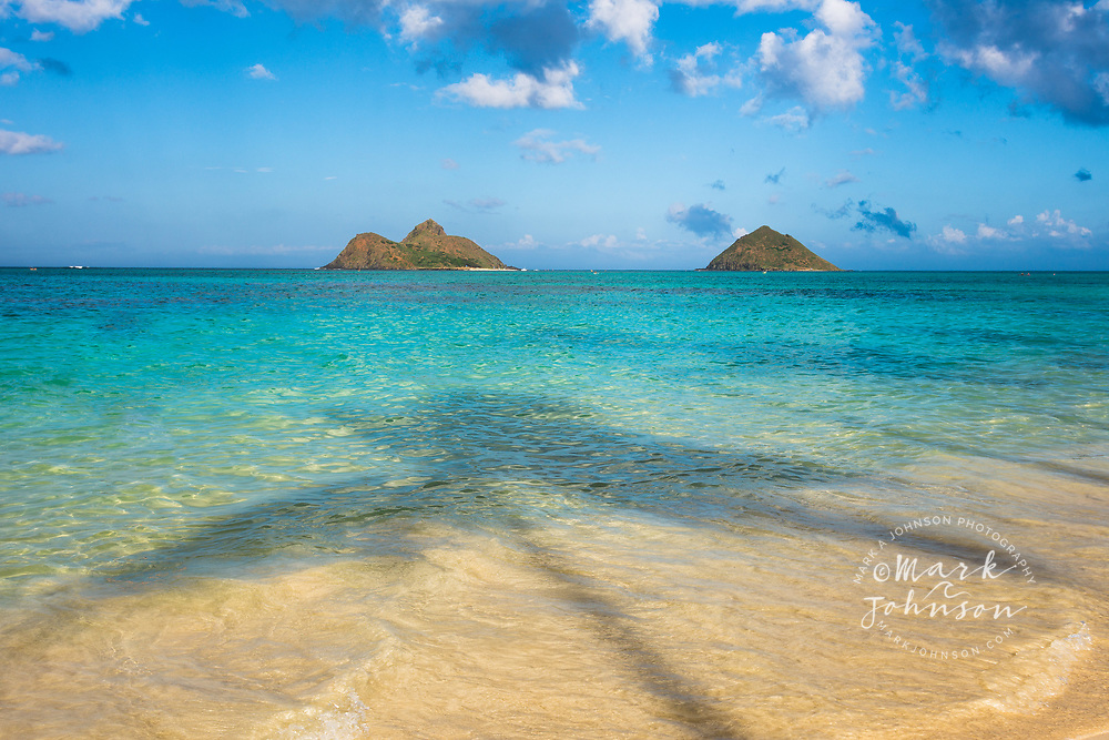 The Mokulua Islands, Lanikai Beach, Kailua Bay, Oahu, Hawaii