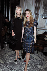Left to right, JAN DE VILLENEUVE and her daughter DAISY DE VILLENEUVE at a party for Yves Saint Laurent's Creative Director Stefano Pilati given by Colin McDowell held at The Connaught Bar, The Connaught, Mount Street, London on 29th October 2008.
