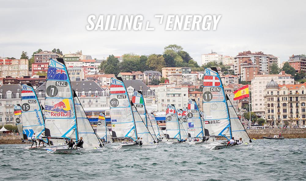 Santander 2014 ISAF Sailing World Championships. First day of racing