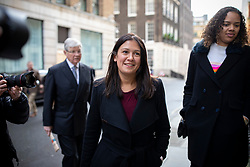 © Licensed to London News Pictures. 15/01/2020. London, UK. Labour Party leadership candidate Lisa Nandy arrives at RSA House to give a speech on the UK's place in a post-Brexit world. Photo credit: Rob Pinney/LNP