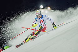 "29.01.2019, Planai, Schladming, AUT, FIS Weltcup Ski Alpin, Slalom, Herren, 1. Lauf, im Bild Loic Meillard (SUI) // Loic Meillard of Switzerland in action during his 1st run of men's Slalom ""the Nightrace"" of FIS ski alpine world cup at the Planai in Schladming, Austria on 2019/01/29. EXPA Pictures © 2019, PhotoCredit: EXPA/ Dominik Angerer"