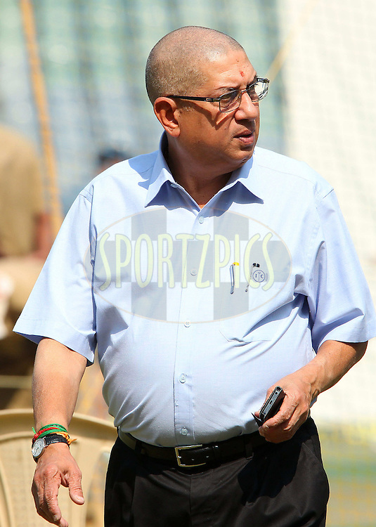 N Srinivathsan during the Indian nets session and press conference held at the Wankhede Stadium in Mumbai, India on the 13th November 2013<br /> <br /> Photo by: Ron Gaunt - BCCI - SPORTZPICS