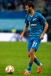 October 4, 2018 - Saint Petersburg, Russia - Aleksandr Erokhin of FC Zenit Saint Petersburg in action during the Group C match of the UEFA Europa League between FC Zenit Saint Petersburg and SK Sparta Prague at Saint Petersburg Stadium on October 4, 2018 in Saint Petersburg, Russia. (Credit Image: © Mike Kireev/NurPhoto/ZUMA Press)